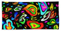 I Heart Color Beach Towel by Kenny Francis
