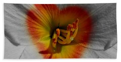 Beach Sheet featuring the photograph I Heart Flowers by Janice Westerberg