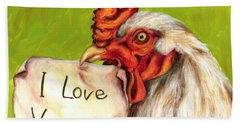 I Love Vegans Beach Sheet