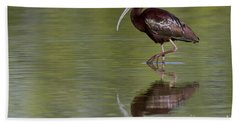 Ibis Reflection Beach Towel by Bryan Keil