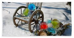 Beach Towel featuring the photograph Ice Ball Art by Nina Silver