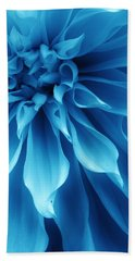 Ice Blue Dahlia Beach Towel