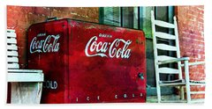 Ice Cold Coca Cola Beach Sheet by Benanne Stiens