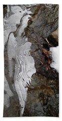 Ice Flow Beach Towel by Robert Nickologianis