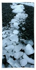 Beach Sheet featuring the photograph Ice Pebbles by Amanda Stadther