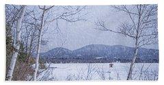 Beach Towel featuring the photograph Ice Shack by Alana Ranney