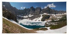 Beach Towel featuring the photograph Iceberg Lake by Aaron Aldrich