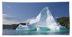 Beach Towel featuring the photograph Iceberg Newfoundland Canada by Liz Leyden