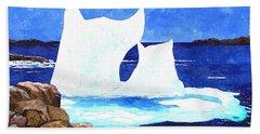 Icebergs - Unique Shape Bergs - Northern Visitors Beach Towel