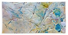 Iced Texture I Beach Towel