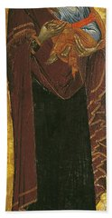 Icon Known As The Virgin Of Tsar Dushan, C.1350 Tempera On Panel Beach Towel