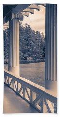 Iconic Columns On An Estate Beach Towel