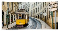 Iconic Lisbon Streetcar No. 28 IIi Beach Towel