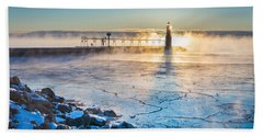 Icy Morning Mist Beach Towel