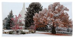 Idaho Falls Temple Winter Beach Sheet