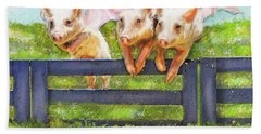 If Pigs Could Fly Beach Sheet by Jane Schnetlage