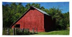 Illinois Red Barn 2 Beach Towel