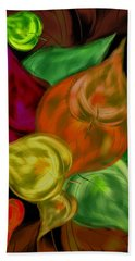 Imagine Leaves Beach Towel by Christine Fournier