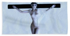Immerse Crucifix Beach Towel