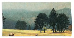 Impression Evergreen Colorado Beach Towel