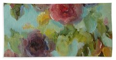 Impressionist Floral  Beach Towel