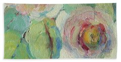 Impressionist Roses  Beach Sheet