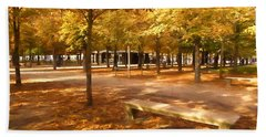 Impressions Of Paris - Tuileries Garden - Come Sit A Spell Beach Sheet