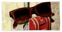 In Case Of Fire Grab Shades Beach Towel