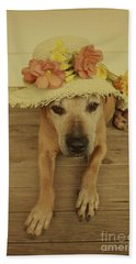 In Her Easter Bonnet Beach Sheet by Elaine Teague
