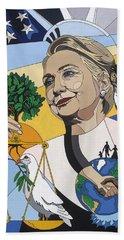 In Honor Of Hillary Clinton Beach Towel