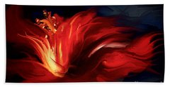 Beach Towel featuring the painting In Red by Shanina Conway