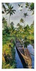 In The Backwaters Of Kerala Beach Sheet
