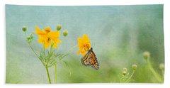 In The Garden - Monarch Butterfly Beach Sheet by Kim Hojnacki