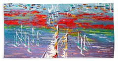 In The Lead - Sold Beach Towel by George Riney