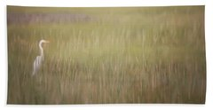 Beach Towel featuring the photograph In The Marsh  by Kerri Farley
