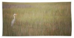 In The Marsh  Beach Sheet by Kerri Farley