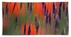 Beach Towel featuring the photograph In The Meadow by Heiko Koehrer-Wagner