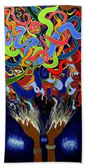 In The Midst - Abstract Painting  - Ai P. Nilson Beach Towel