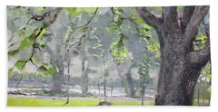 In The Shade Of The Big Tree Beach Towel