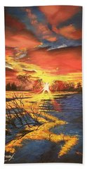 In The Still Of Dawn-2 Beach Towel