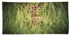 In The Tall Grass Beach Towel by Shane Holsclaw