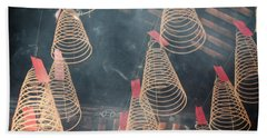 Beach Towel featuring the photograph Incense Coils by Lucinda Walter