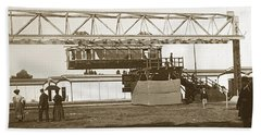 Beach Sheet featuring the photograph Incredible Hanging Railway  1900 by California Views Mr Pat Hathaway Archives