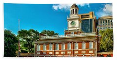 Independence Hall Beach Towel by Nick Zelinsky