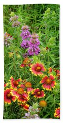 Indian Blankets And Lemon Horsemint Beach Towel
