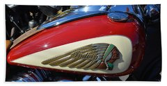 Indian Motorcycle Gas Tank Beach Towel