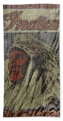Indian Motorcycle Postertextured Beach Towel
