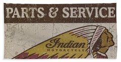 Indian Motorcycle Sign Beach Towel