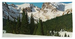 Indian Peaks Winter Beach Towel