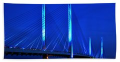 Indian River Bridge At Night Beach Towel